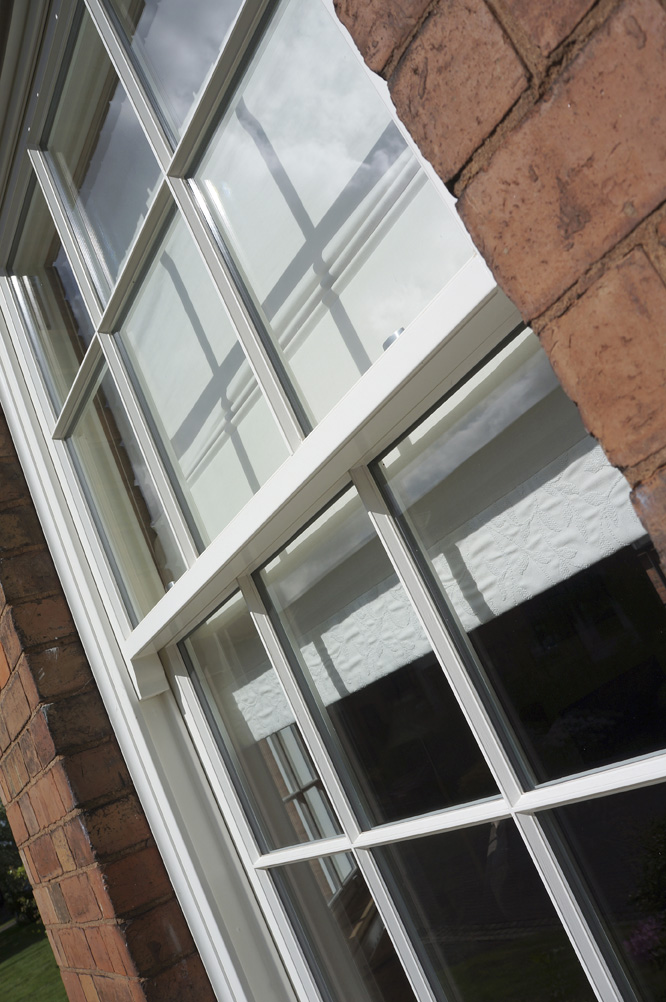 Knowles warwickshire sash window side view