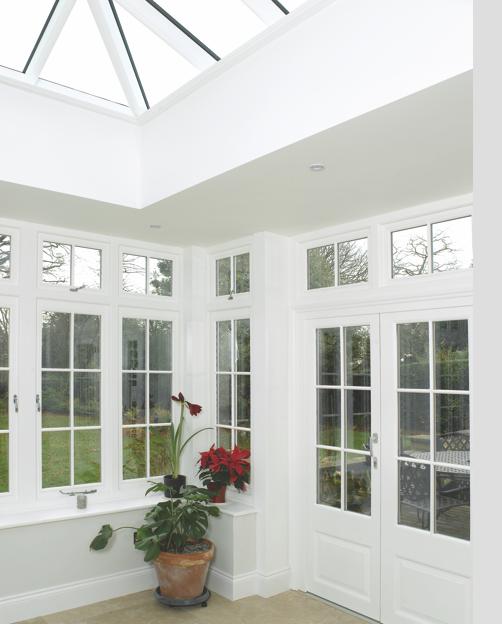 Timber framed orangery & roof lantern Leamington Spa