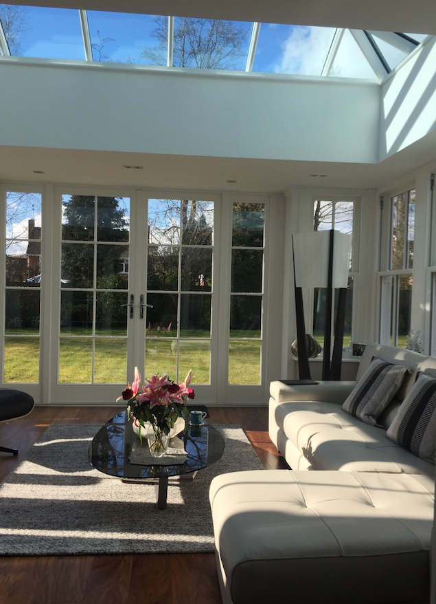 Timber wooden patio doors and lantern roofs Warwickshire