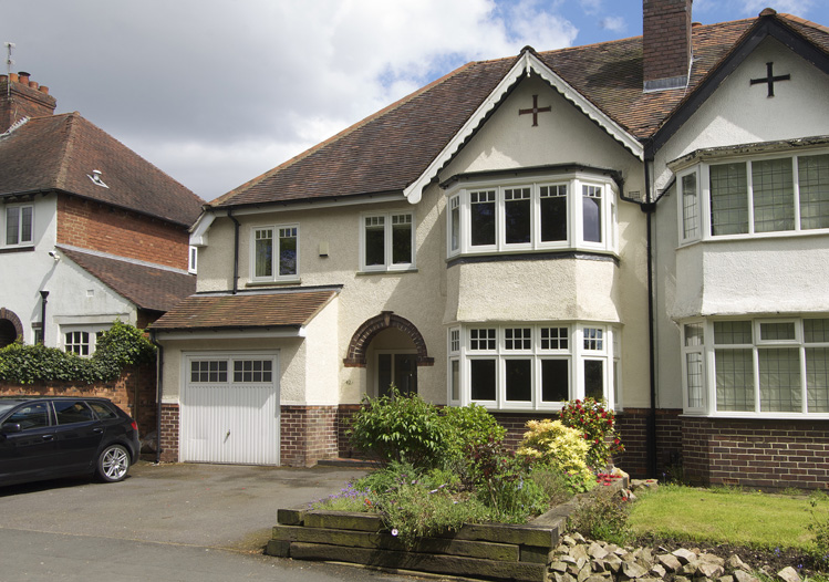 Walsh harborne deco casment window house front