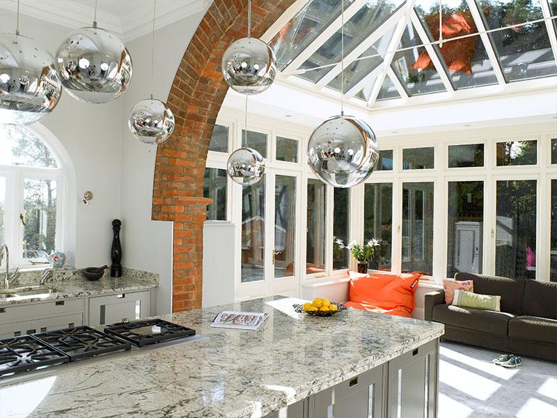 beautiful kitchen conservatory