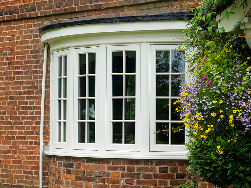 Denton Cream Five Sided Casement Bay Window