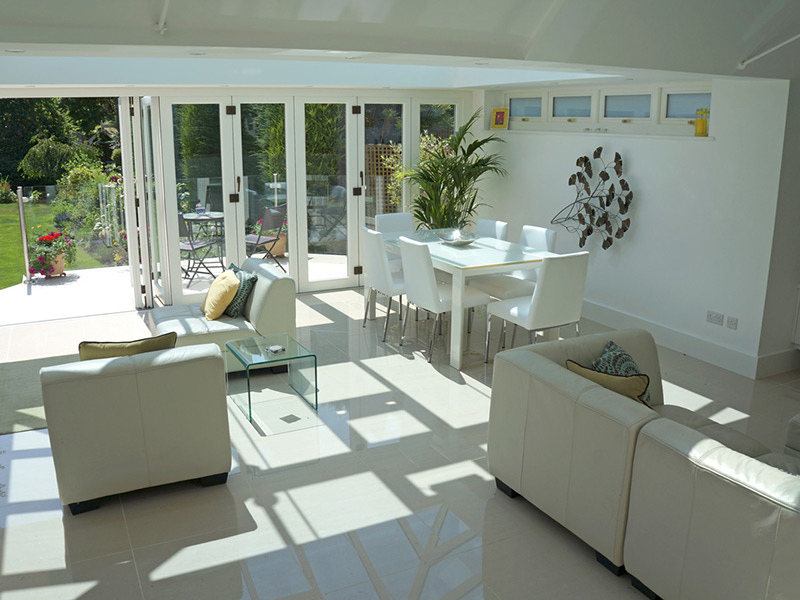 bifold timber doors white nine panel interior