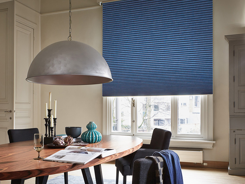 luxaflex large duette blind blue