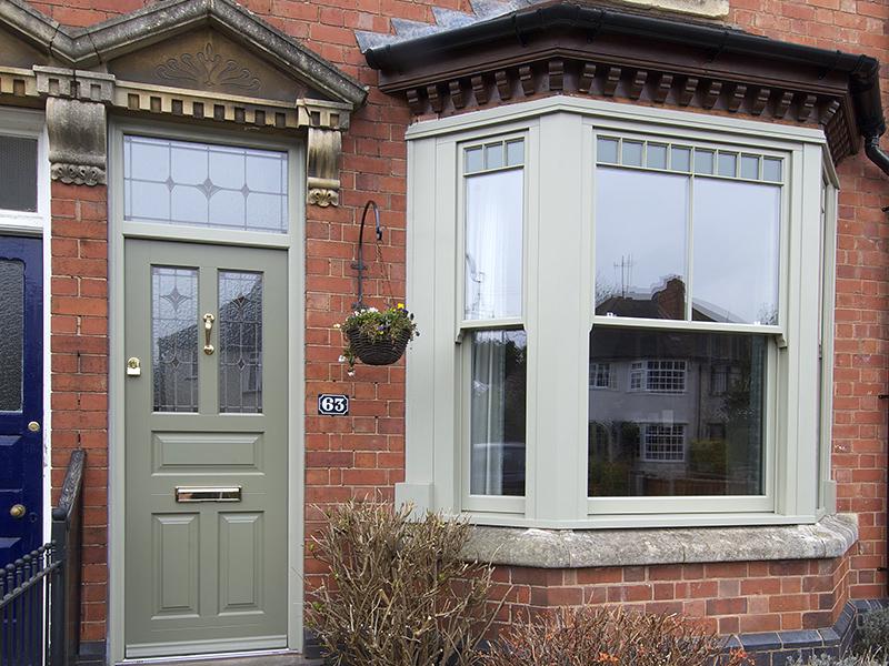 Bewdley front door sash bay window front view