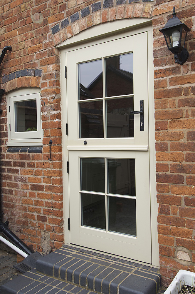 cream stable door georgian grid wrought iron furniture