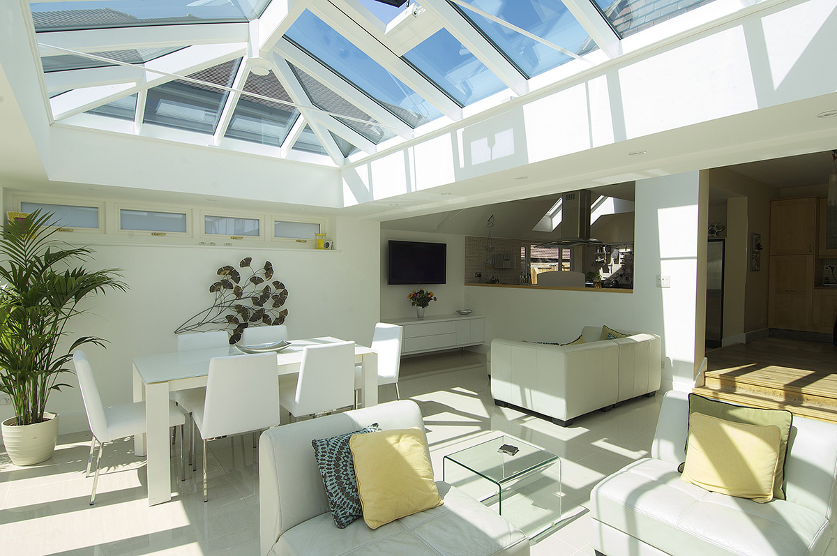orangery interior timber roof lantern