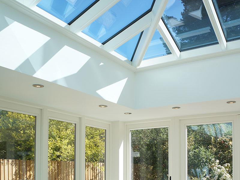 white wooden conservatory Warwick