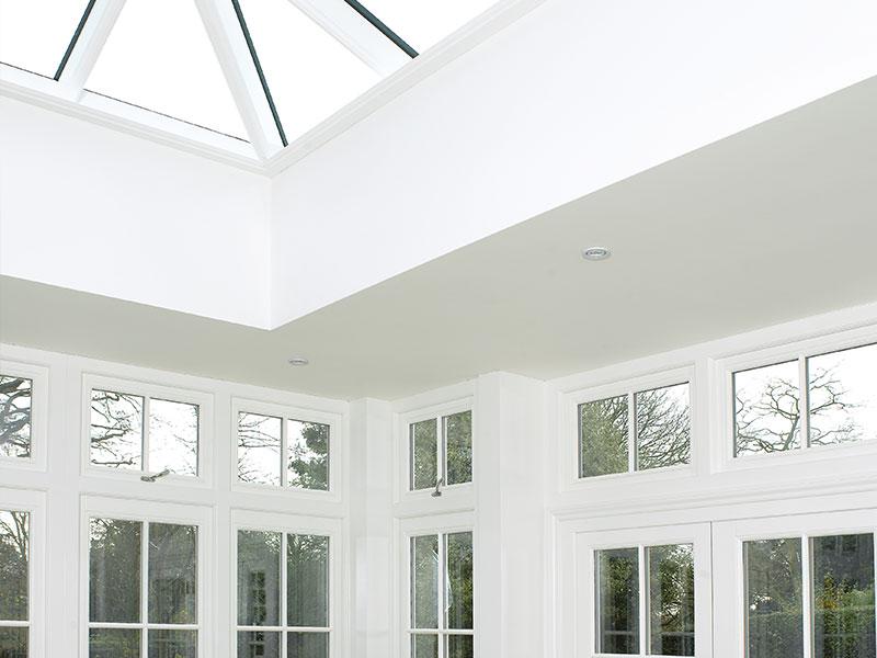 white kitchen orangery