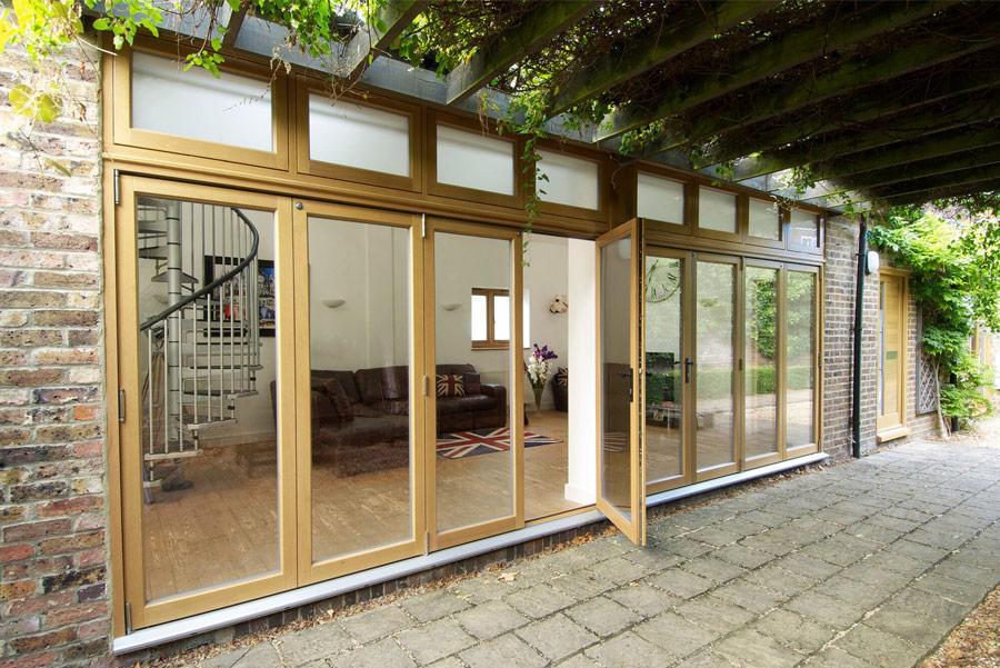 timber wooden bifolding doors Leamington Spa