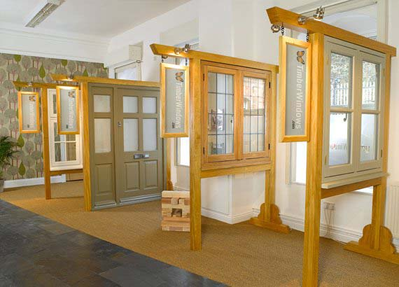 Wooden doors and windows Leamington Spa showroom